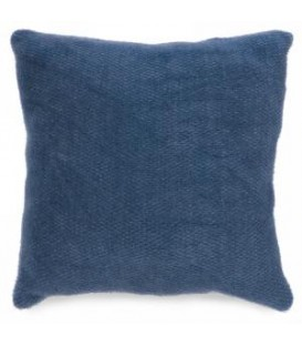 Blue weaved motif cushion