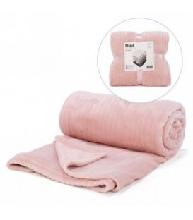 Pink lined motif throw