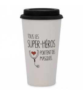 Bamboo travel mug SUPER-HERO