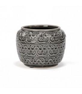 Pot en céramique gris