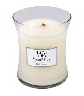 MEDIUM CRACKING CANDLE WOODWICK ISLANDE COCONUT
