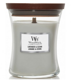 MEDIUM CRACKING CANDLE WOODWICK CEDAR AND LAVANDER