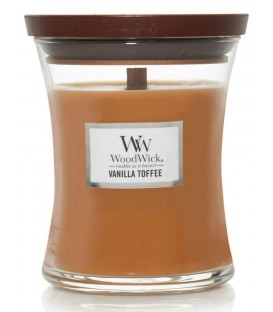 MEDIUM CRACKING CANDLE WOODWICK TOFFEE