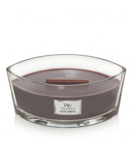 CANDLE CRACKING ELLIPSE WOODWICK VELVET TOBACCO