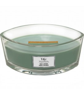 CANDLE CRACKING ELLIPSE WOODWICK SAGE AND MYRRH