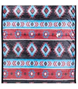 Aztec Turquoise Throw 50x60 ''