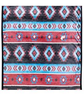 Jeté aztec turquoise 50x60''
