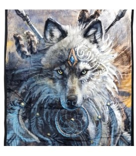 Wolf sherpa throw 50x60 ''
