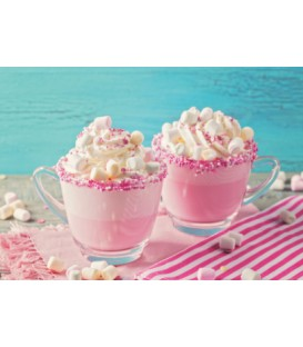 Unicorn pink hot chocolat