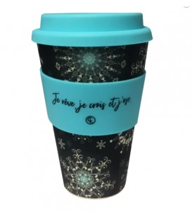 Bamboo Fiber Reusable Coffee Mug- flake