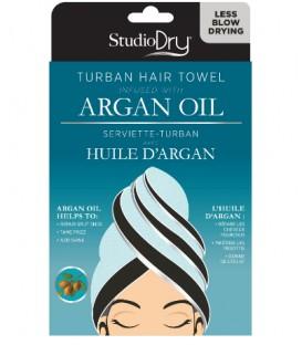 Hair towel infused with argan oil