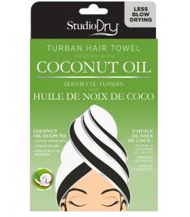 Serviette pour les cheveux avec huile de noix de coco