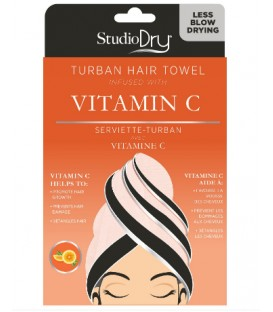 Hair towel infused with vitamin C