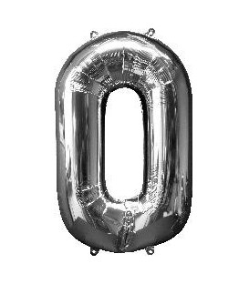 Super silver number balloon