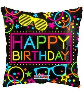 18 '' happy birthday neon balloon