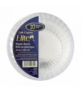 Bols en plastique 100 oz-pqt 10