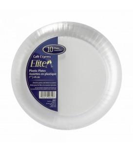 10 '' plastic plates - pkg6