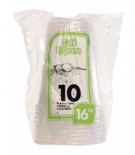 Plastic cups 16oz-pkg 10
