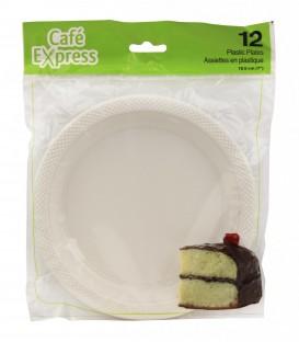 7 '' plastic plates - pkg 12