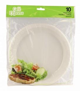 10 '' plastic plates - pkg 10