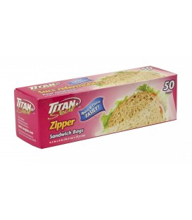Resealable sandwich bag box 50