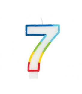 Bougie d'anniversaire chiffre 7