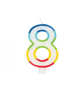 Bougie d'anniversaire chiffre 8