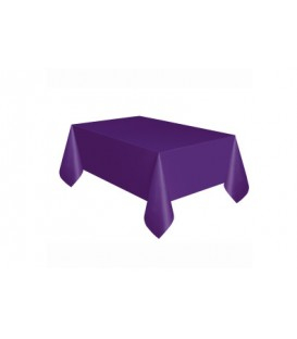 Powder Blue Solid Rectangular Plastic Table Cover