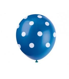 Ballons de couleur avec pois blanc