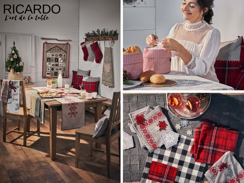L'art de la table Noël RICARDO